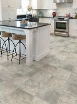Tarkett Floating Vinyl Flooring 12' Wide (3.66m) Fresh Start™ Pompeii Pewter