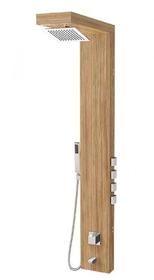 Tenzo TZBW-08 Shower Panel 4 Functions Bamboo