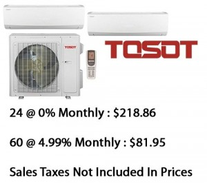 Tosot Dual Zone Heat Pump (24000+2x12000) Btu Seer 22 With Base Installation*