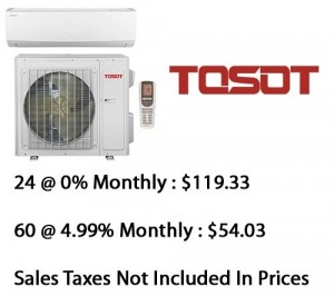 Tosot Single Zone Lomo 16 Heat Pump 24000 Btu Seer 16 With Base Installation*