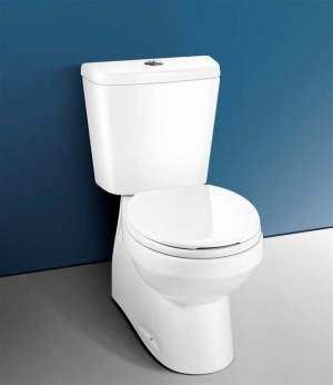 Caroma 302100W Sydney Smart II Easy Height Round Front Plus, Tank bowl and Seat, White