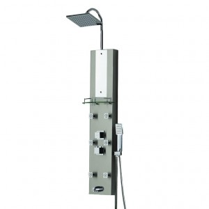Jade 8076-00-10 Shower Faucet Waterfall Contractor Square Collection Satin Chrome