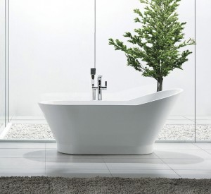 Jade Freestanding Acrylic Bathtub Zoe Collection 59""